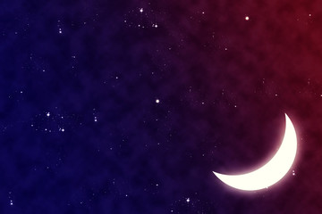 Beautiful smile moon