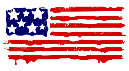 Abstract grunge flag of USA. Vector illustration.