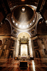 Inside the St. Peter Basilica, Vatican