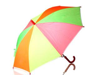Multi-colored umbrella isolated on white