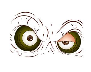 Angry Cartoon Eye Vector