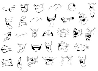 Cartoon Mouth Expressions