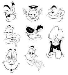 Cartoon Faces Expressions