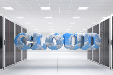 Cloud Computing in server room