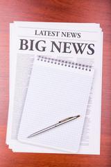 The newspaper BIG NEWS