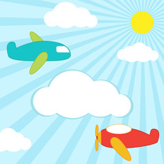 Papiers peints Avion, ballon planes background