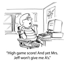 Gaming Student Questioning Teacher