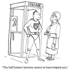 Wall Murals Comics Self-Esteem Seminar was Helpful