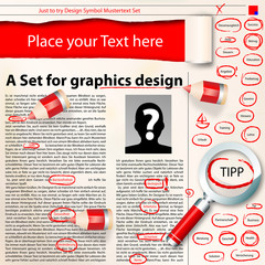 graphics design set