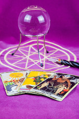 Tarot cards with the crystal ball and magic wand (14).