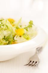 salad with orange