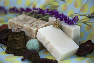 Spa with Soaps, potpourri and lavender