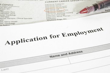employment application and  jobs section