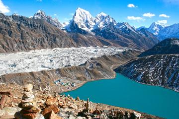 Photo sur Aluminium Népal GLACIAR DEL EVEREST, NEPAL