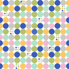 seamless pattern, polka dot fabric, wallpaper