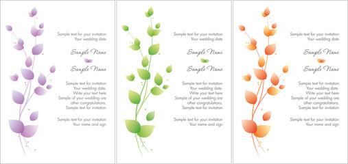 Color wedding branch set