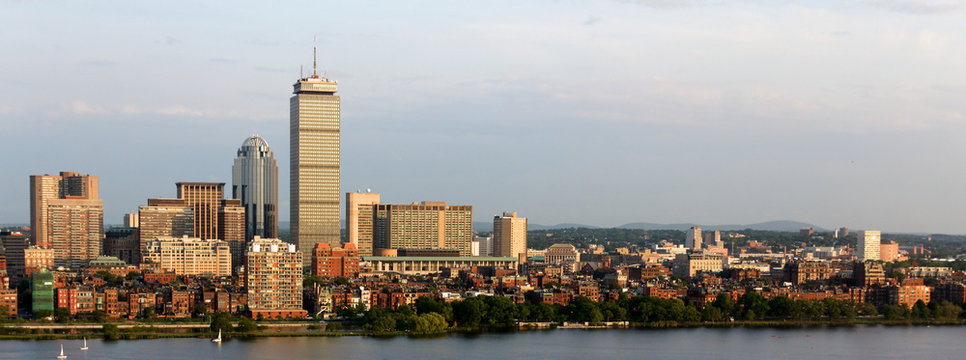 Panoramic View of Boston Back Bay and Brookline