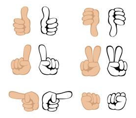 Vector hand gestures