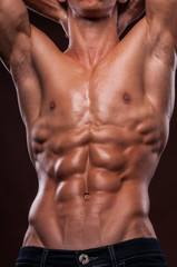 Torso with six pack