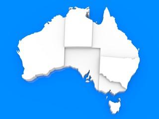 Bump map of Australia