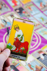 Strength, Tarot card, Major Arcana