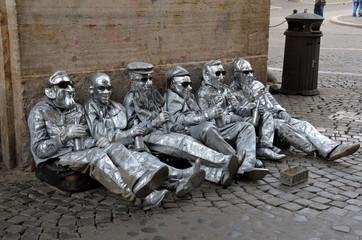 Artisti di Strada a Piazza Navona, Roma