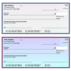 Watermark Security Personal Checks