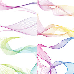 Vector set of abstract backgrounds.