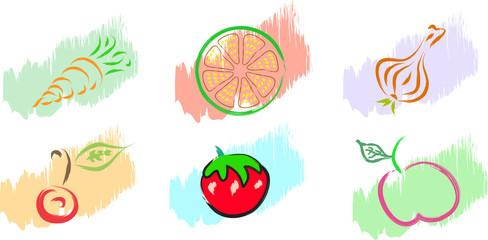 fruits and vegetables illustration
