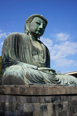 statue of Buddha in Kamakura, Japan .