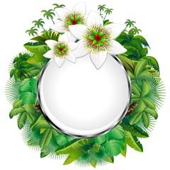 Fiore della Passione Icona Cristallo-Passion Flower Web Button