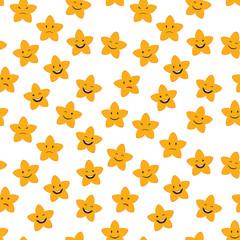 Cartoon stars seamless
