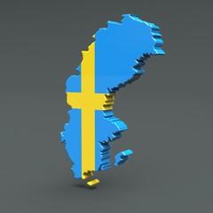 3d Karte Schweden