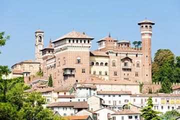 Fototapete - Castle of Cereseto, Piedmont, Italy
