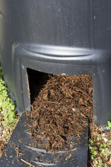 Closeup of Compost bin