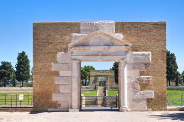 Amphitheatre of Lucera. Puglia. Italy.