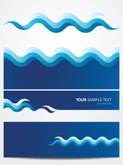 Abstract vector background -water waves