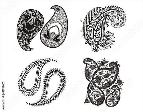 """traditional paisley floral designs, textile, Rajasthan"