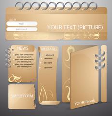 layout elements for web design