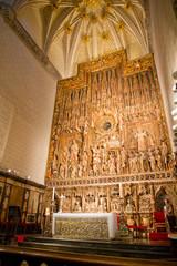 San salvador de la seo Cathedral altarpiece