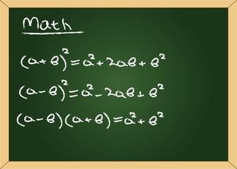 vector blackboard with formuls