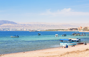 urban beach in Aqaba city, Jordan