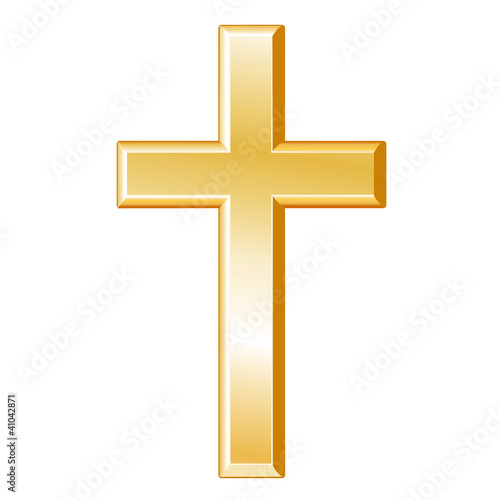 Christianity Symbol Gold Cross Crucifix Christian Faith Icon