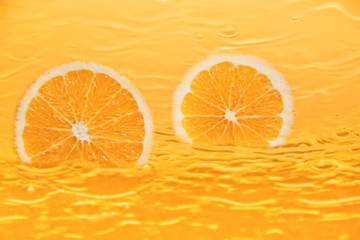 Photo sur Toile Tranches de fruits Frischer Orangensaft