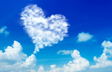 Love shape cloud