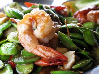 shrimp fried with shrimp paste
