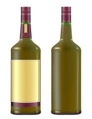 Irish whiskey in a green bottle