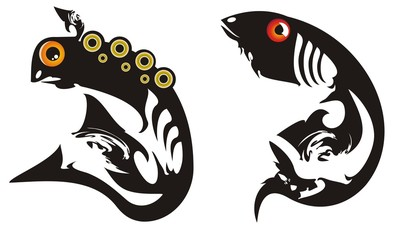 Black tribal fishes