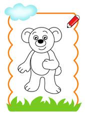 pagina da colorare, orso