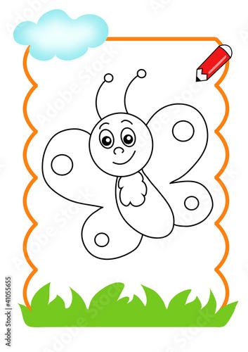 Pagina da colorare farfalla immagini e fotografie - Pagina da colorare bulbasaur ...